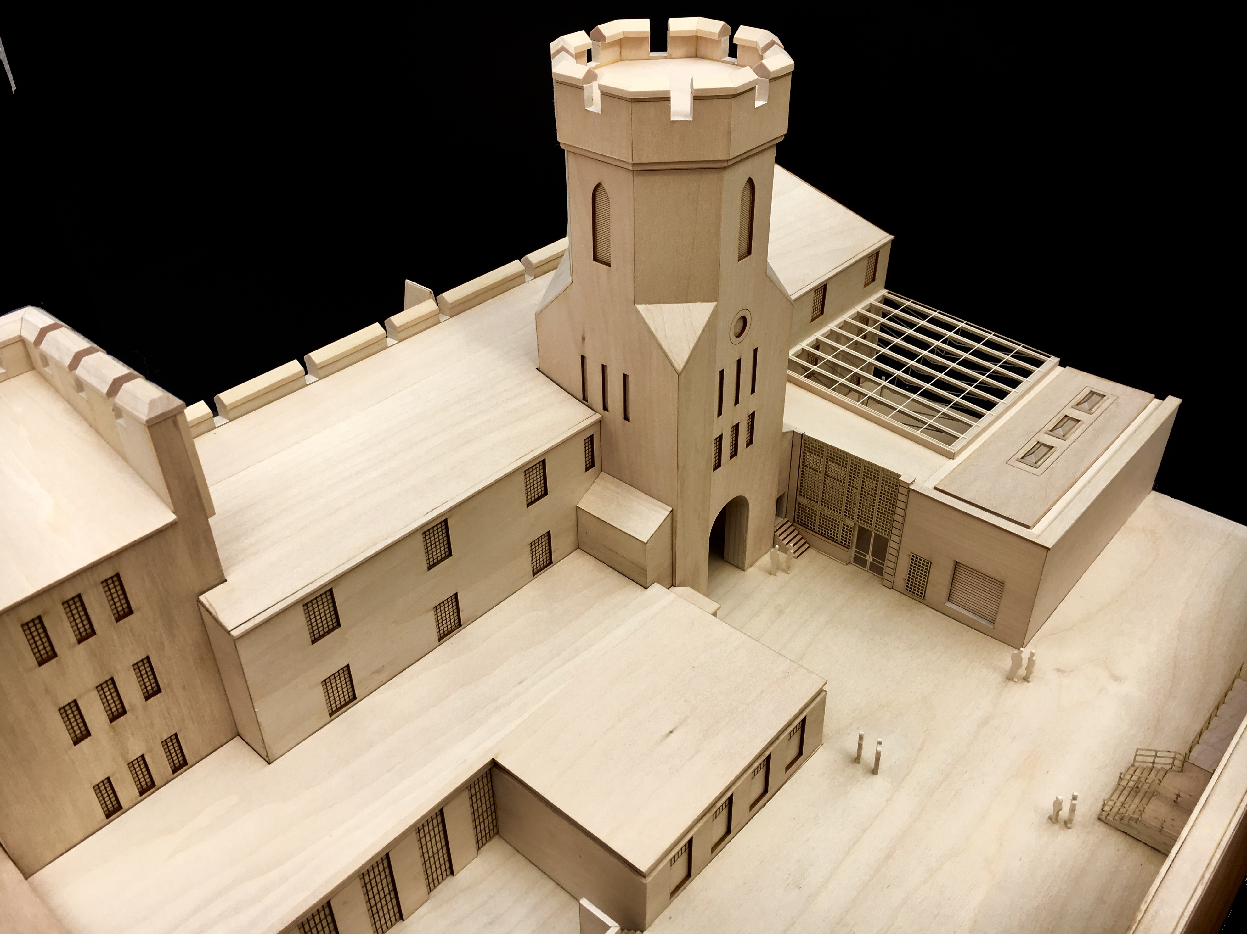 Eastern State Penitentiary model on display showing the new Visitor Center
